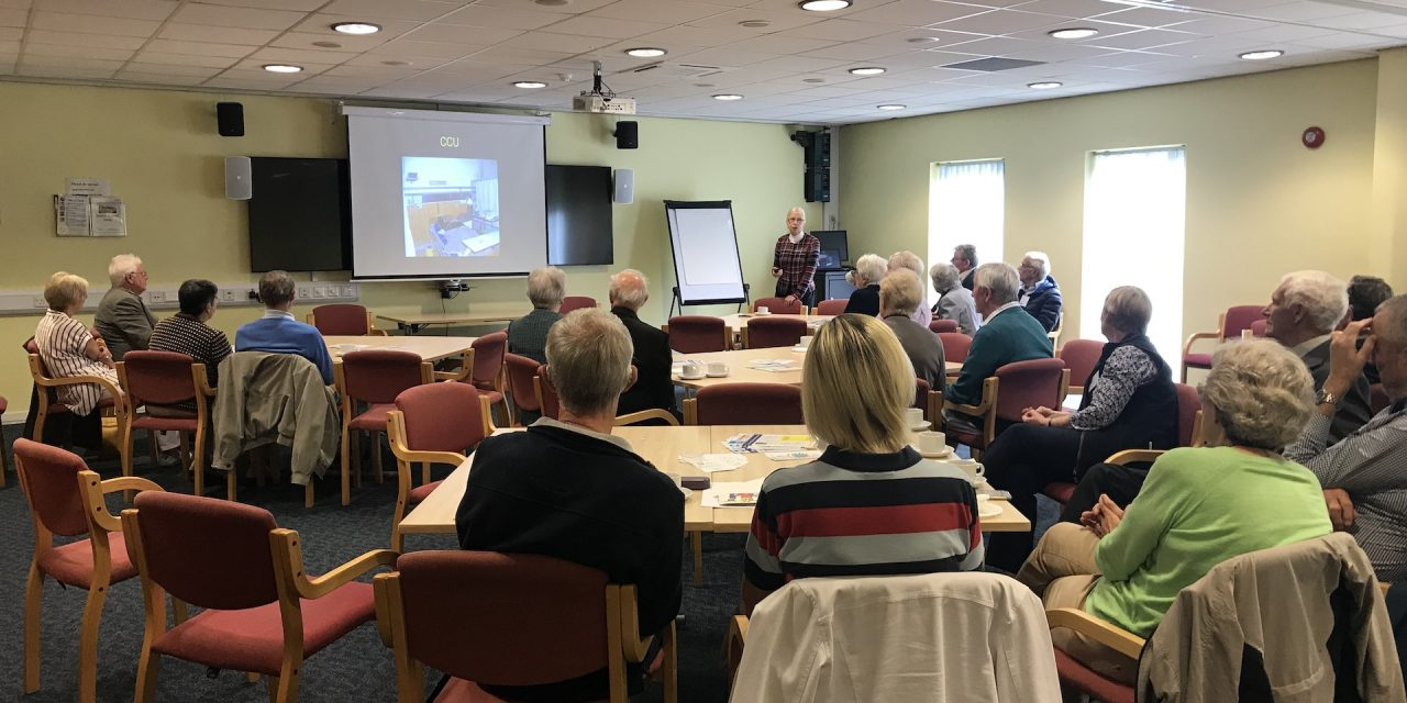 September 17th – Talk given by Dr Mary Heber, a retired Cardiologist and TA Colonel.